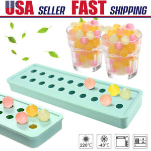 20 Ice Ball Silicone Round Frozen Cubes Tray Mold MINI Ice Maker Mould Pudding