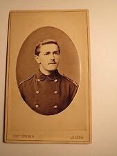 Luzern - Soldat ? in Uniform - Portrait / CDV Schweiz