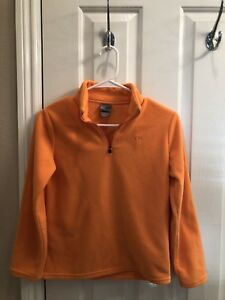 Girl's CHAMPION Orange Fleece 1/4 Zip Jacket - Size Large