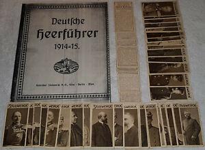 Deutsche Heerführer 1914-15 Stollwerck 76 verschiedene + 9 doppelte Sammelbilder