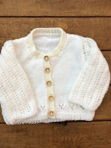 Hand knitted baby cardigan, jumper