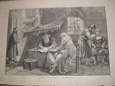 Ingresso di una moschea ad Istanbul dictatiing una LETTERA d'AMORE 1878 stampa ref y1