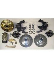 "1968 - 1974 Chevy Nova Slotted Power Disc Brake Conversion Kit 2"" Drop Spindles"