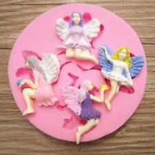4 Fairy Angel Silicone Fondant Mold Chocolate Polymer Clay Mould JJ