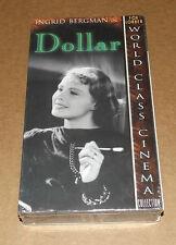 Dollar (VHS, 1999) Ingrid Bergman NEW & FACTORY SEALED Fox Lorber