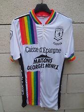 Maillot cycliste PLOUVIEN Maisons GEORGES MENEZ Caisse d'Epargne années 80 M / L