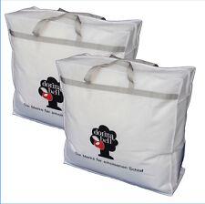 2 Stk Aufbewahrungstasche Bettentasche Bettdecken Kissen Decken Kleidung Tasche