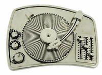 TURNTABLE DISCO DJ BELT BUCKLE MUSIC LOVERS MEN WOMEN Rock Rebel Gothic Tattoo