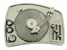 TURNTABLE RADIO DISCO DJ PLAIN BELT BUCKLE FOR MUSIC LOVERS MEN WOMEN Rock Rebel