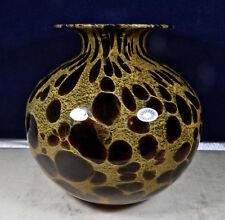 Murano Vase Brown Italian Art Glass Ebay