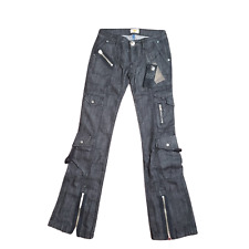 Limited Edition Antik Blackout Womens Jeans Slim Fit Flare Bottoms 9 Pocket NWT
