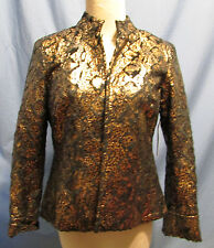 Bronze / Black Polyester Ladies Jacket by Toni Morgan in Size Small NWT