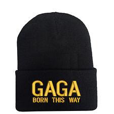 LADY GAGA BORN THIS WAY Black Beanie Hat