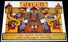 "MAXFIELD PARRISH PORTFOLIO PRINT, 1921 JELL-O ""KING & QUEEN MIGHT EAT"" LARGE!"