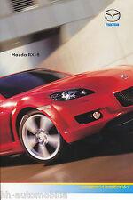 Prospetto MAZDA rx-8 15.11.07 brochure 2007 AUTO AUTOMOBILI AUTO prospetto opuscolo