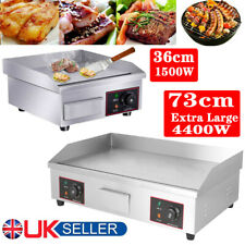 More details for electric griddle kitchen flat hot plate bbq grill bacon large countertop plancha