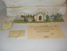 1994 David Winter Cottage The Castle Wall W/ Cert Of Authenticity & Orig Box