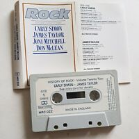 The History Of Rock  Carly Simon James Taylor Joni Mitchell Don Mclean Cassette