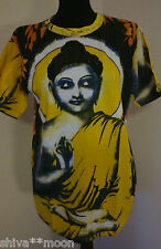 Hippy Festival australiano indiano Dio T Shirt Med / LARGE Buddha Cotone Fairtrade 1812B