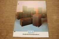 KLH Research 373 353 317 363 Dedicated LoudSpeaker Speaker Original Catalogue
