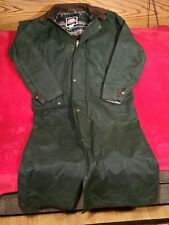 Australian Outback Collection Green Oilskin Duster Coat Men's Sz. L Cowboy Gear