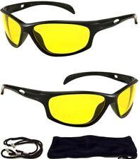 HD Aviator Sunglasses Driver Night Vision Driving Glasses Yellow Lens Anti Glare