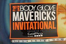 "New listing Body Glove Mavericks Invitational gopro Large ~11"" Vintage Surfing Decal Sticker"