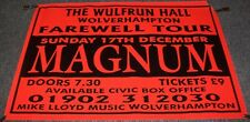 MAGNUM RARE CONCERT POSTER SUNDAY 17th DECEMBER 1995 WULFRUN HALL WOLVERHAMPTON