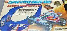 Vintage Super Hyper Racer 4WD Enduro 500 Racecar Set w/Cars (C5-Floor-G105)
