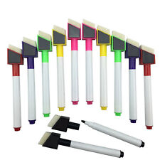 12 Shaped Magnetic Colour set white board marker pen dry wipe markers easy wipe