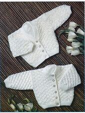 "PREMATURE~BABIES~CARDIGAN~JACKET~LACY~ 4 PLY~ KNITTING PATTERN~SIZE 12-22""(U83)"