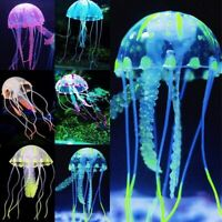 Artificial Fake Jellyfish Aquarium Fish Tank Ornament Decor With Glowing Effect