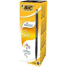 BIC ATLANTIS STIC 1.2MM BLACK - PACK OF 12