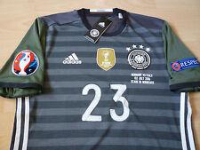 Spielertrikot DFB Deutschland EM 2016 Away authentic adizero #23 Gomez Patches