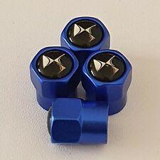 CITROEN DS Blue Metal Valve Dust Caps for all models  DS4 DS5 DS3
