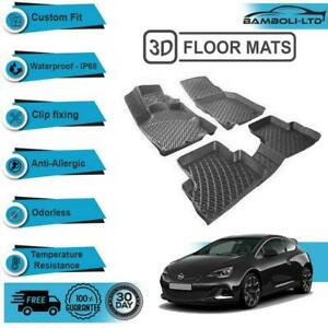 3D Molded Interior Car Floor Mat for Opel Astra J 2009-2014(Black)