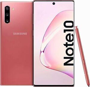 Samsung Galaxy Note 10 SM-N970F 256GB Aura Pink Smartphone Dual Sim Schwarz TOP