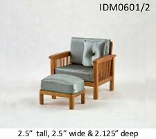 MISSION STYLE CHAIR 1:12 SCALE DOLLHOUSE MINIATURES Heirloom Collection