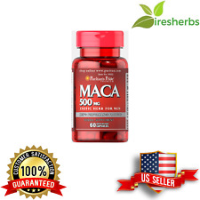 MACA 500MG HERBAL SEX PILL FOR MEN INCREASE DRIVE MOOD AROUSAL PILLS 60 CAPSULES