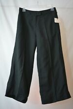 NWT Who What Wear - Black WIDE leg LINEN blend gaucho pants, size 2