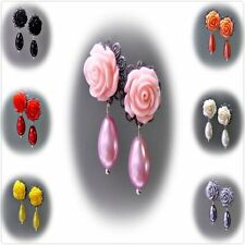 Resin Alloy Handcrafted Earrings