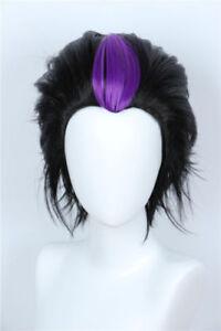 For Cosplay Homestuck Eridan Ampora Black Layered Wig Cosplay Halloween Costume