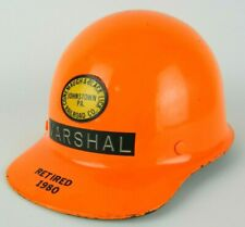 Vtg Msa Skullgard Fiberglass Hard Hat Conemaugh Amp Black Lick Railroad Orange