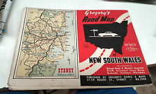 1940s ? GREGORYS  Map of NEW SOUTH WALES   AUSTRALIA