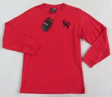 NWT South Pole Boy's Long Sleeve Crew Neck Solid Red Thermal Sweater - L (16/18)