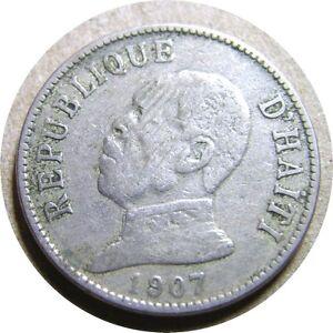 elf Haiti 20 Cent 1907 President  Waterbury Mint