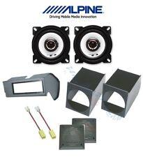 ALPINE Kit 2 casse per FIAT PANDA 1 >2003 con SUPPORTI 10cm + MASCHERINA STEREO