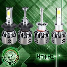 COB H7 H1 High Low Beam Combo LED Headlight Bulbs Kit  6000K White Conversion