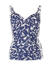034f1e422e Ex Marks and Spencer Secret Slimming Ruched Printed Tankini Top 10 - 20  (SS110)