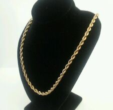 """14k YELLOW GOLD ROPE NECKLACE LINK 21"""" CHAIN"""